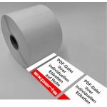 Etiketten auf Rolle