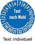 Pruefplaketten individueller Text auf Anfrage selber gestalten