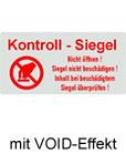 Sicherheitssiegel mit VOID Effekt bestellen